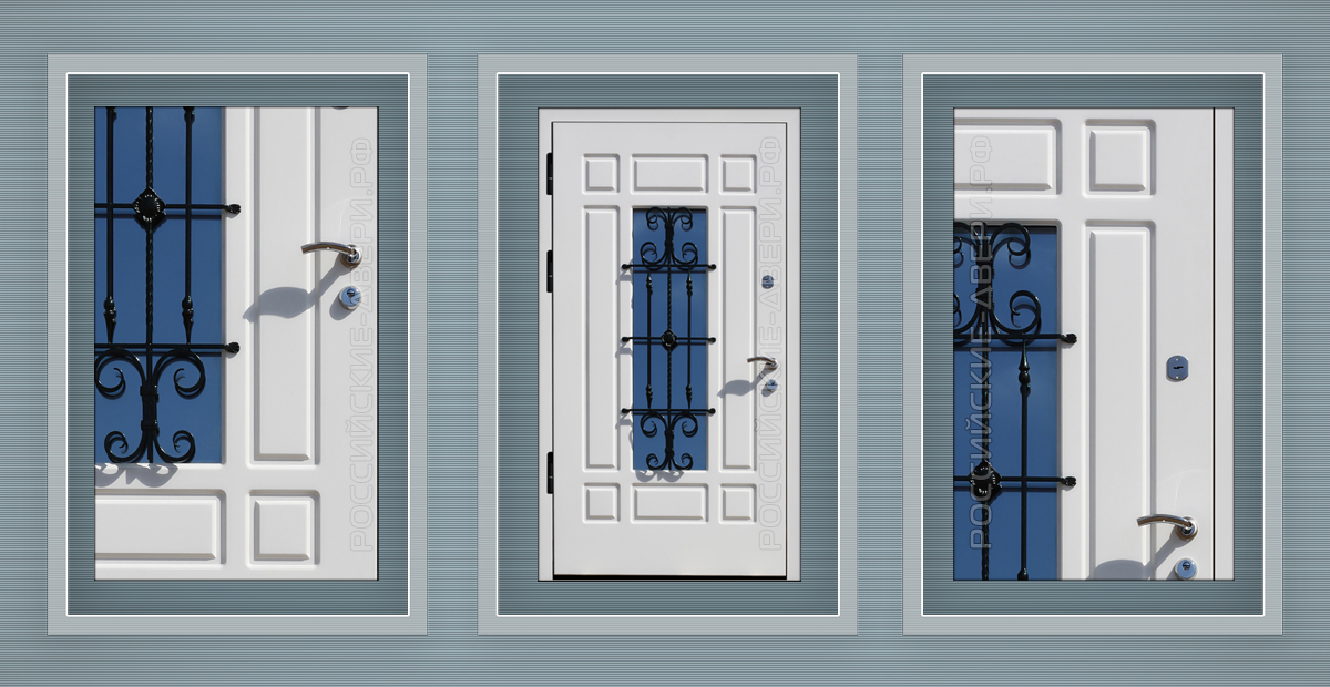 двойная железная дверь на лестничную клетку